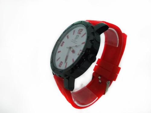 relógio masculino analógico com pulseira de borracha