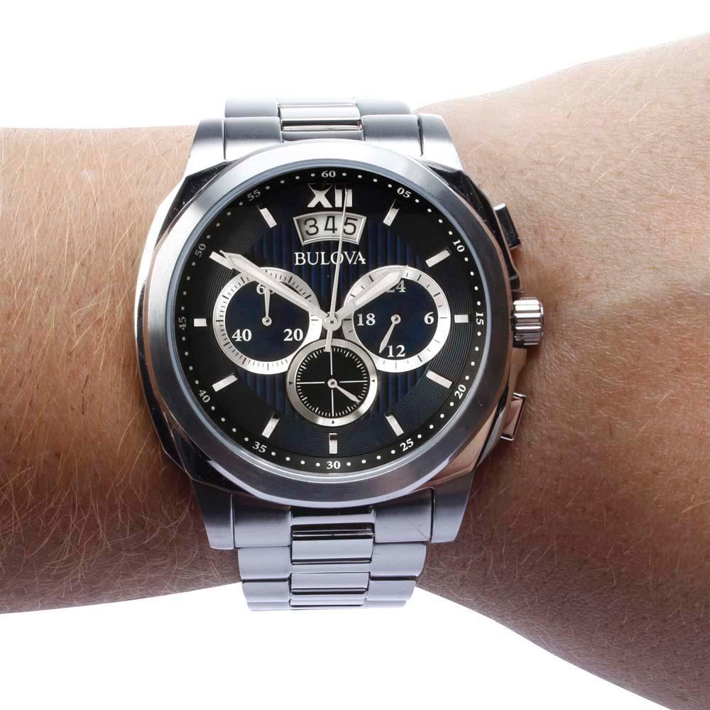 5d8a9aee170 relógio masculino analógico cronógrafo bulova wb31818f prata. Carregando  zoom.