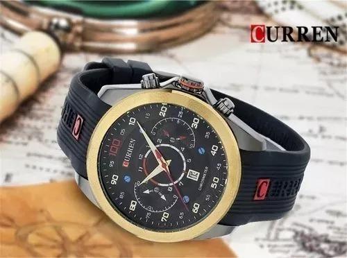 relógio masculino analógico curren importado original lindo