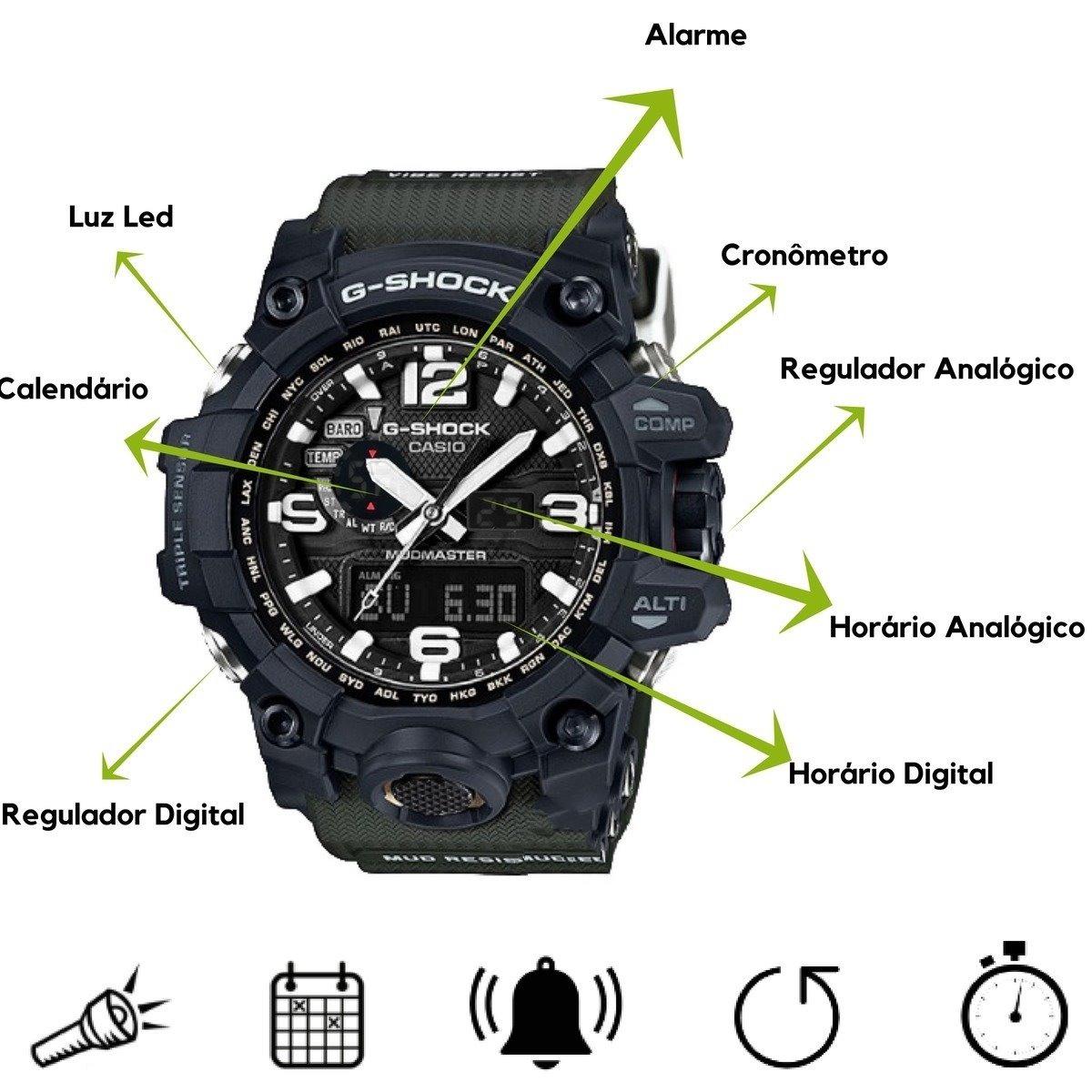 650e4a93bdf Relógio Masculino Analogico Digital Militar Esportivo - R  73