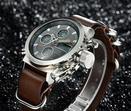 relógio masculino analógico digital prova d'água original