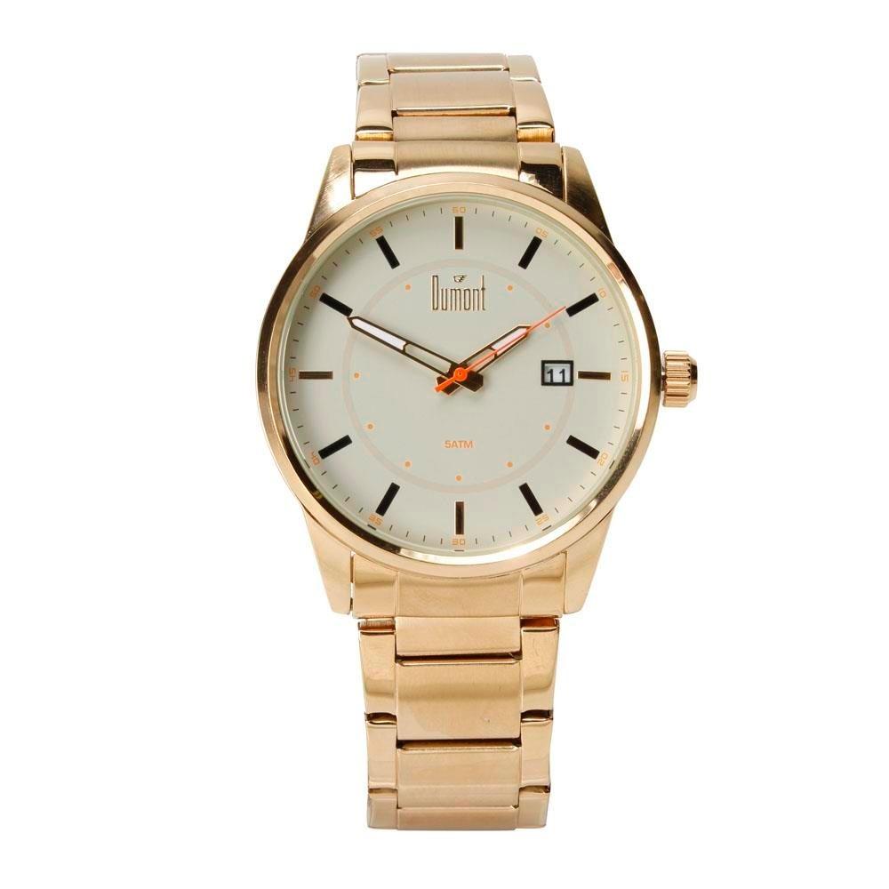 Relógio Masculino Analógico Dumont Du2315ar 4b Dourado - R  249,00 em  Mercado Livre 7db7b73605