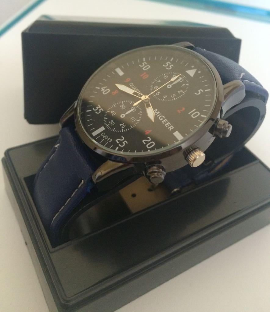 008a0fceba3 relógio masculino analógico em couro - clássico e barato. Carregando zoom.