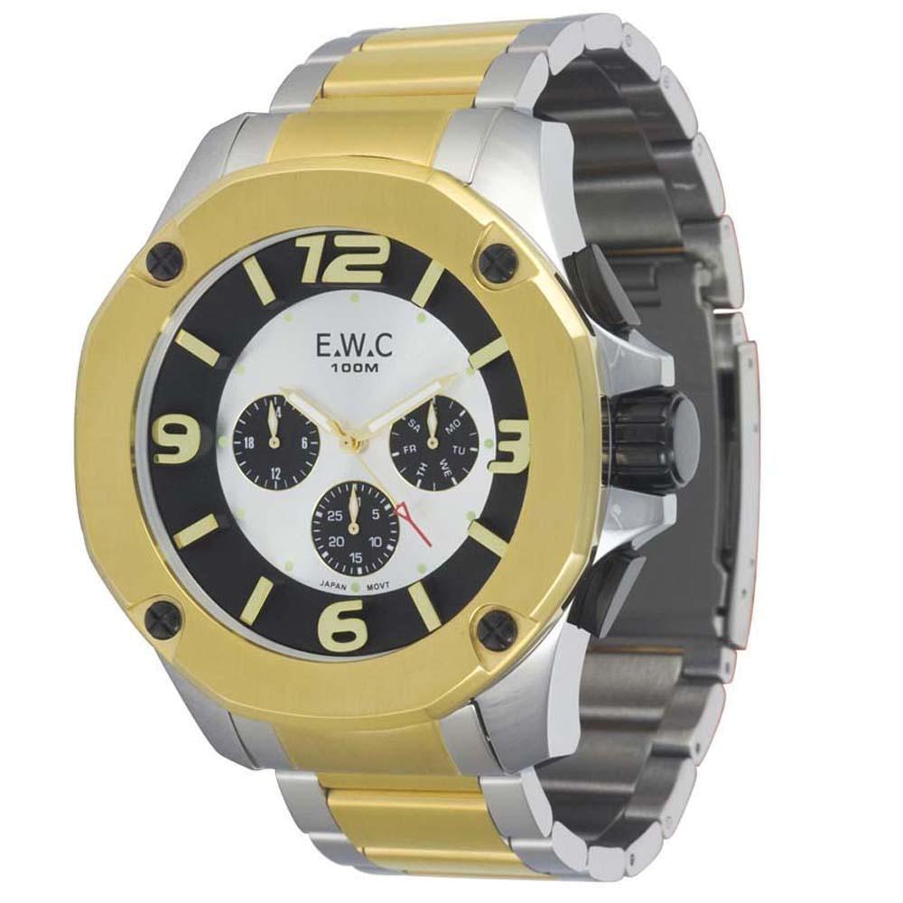 1cc58eef438 relógio masculino analógico ewc colossal octagon emt14027-7. Carregando  zoom.