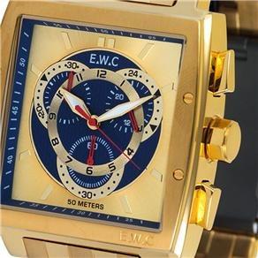 49be0dc23b6 Relógio Masculino Analógico Ewc Emt15313-z - Dourado - R  901