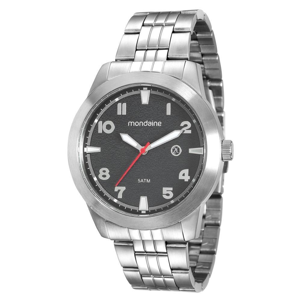 f3409222a1f Relógio Masculino Analógico Mondaine 94965g0mvna1 - Cromado - R  199 ...