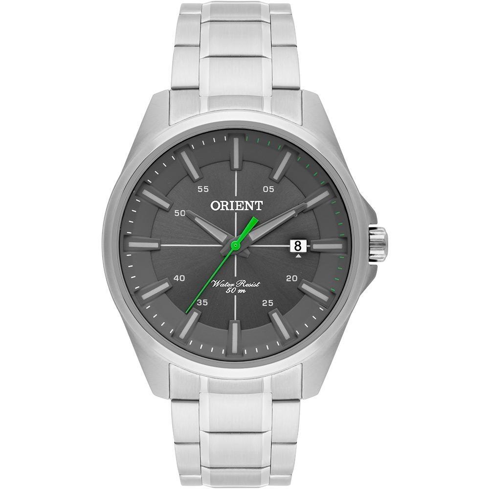 3a2afe45cdb relógio masculino analógico orient - mbss1294 g1sx - prata. Carregando zoom.