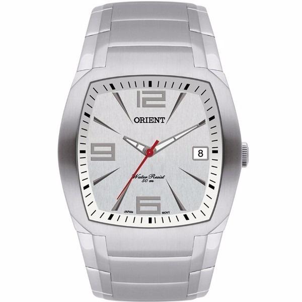 2c7d89a8bec Relógio Masculino Analógico Orient Prata Quadrado - R  459