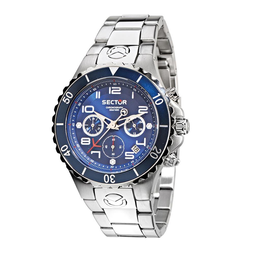 57fc16f19a663 relógio masculino analógico sector ws31795f - prata. Carregando zoom.
