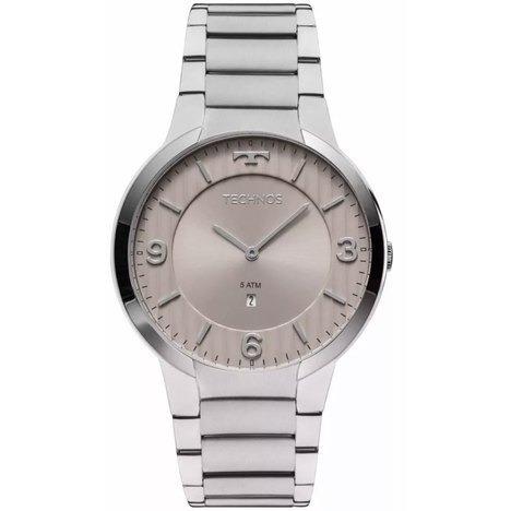 relógio masculino analógico technos slim gl15ao/1c