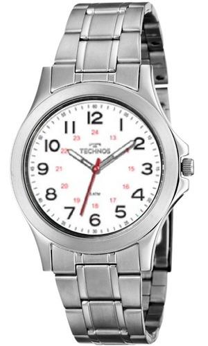 relógio masculino analógico technos steel 2035mng/1b