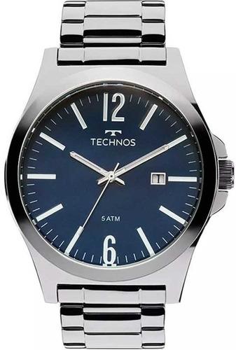 relógio masculino analógico technos steel 2115lay/1a