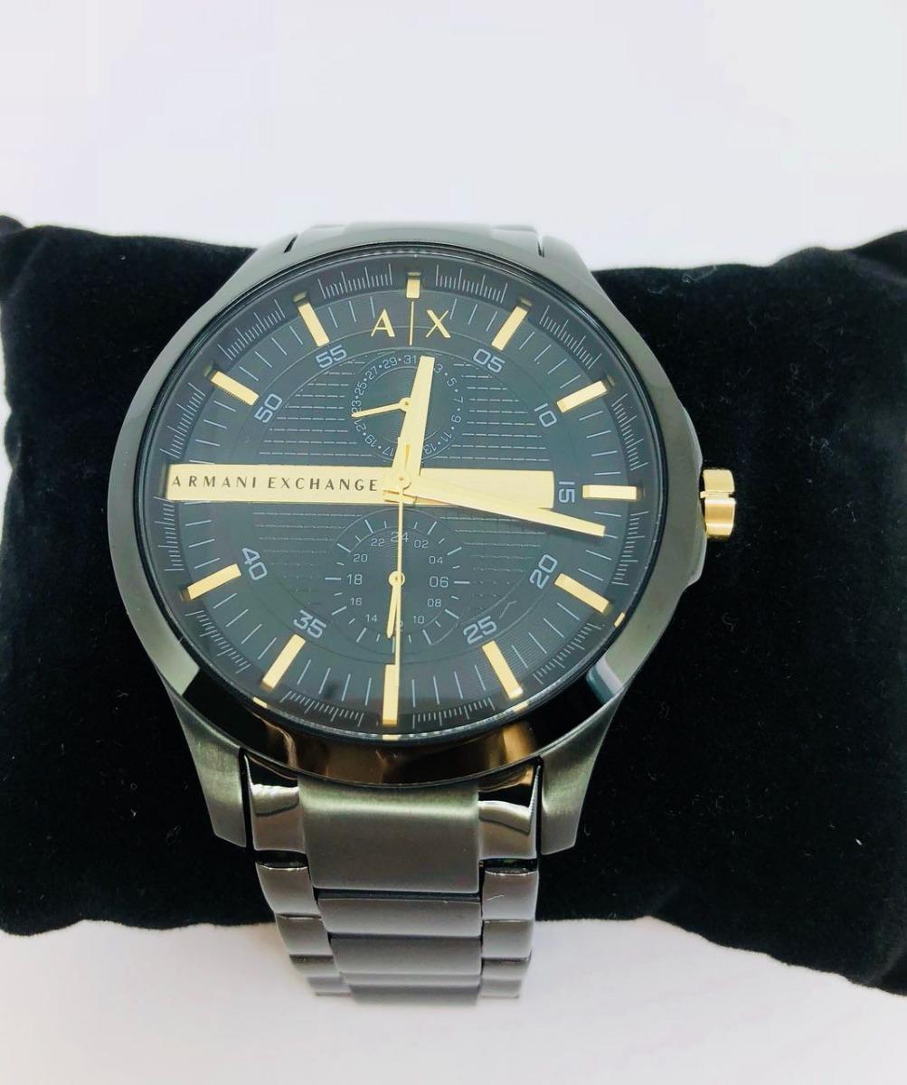 relógio masculino armani exchange aço preto dourado ax2121. Carregando zoom. 5c3b19f192