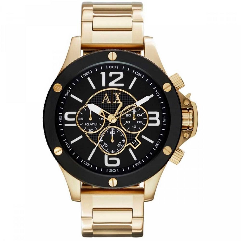 Relógio Masculino Armani Exchange Ax1511 Dourado Preto - R  1.879,99 ... f2855354f2