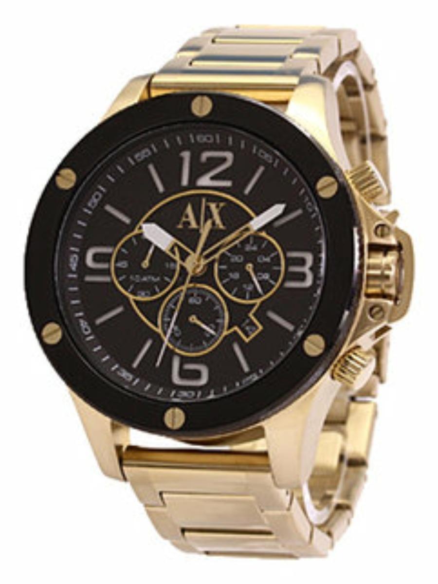 relógio masculino armani exchange ax1511 preto e dourado. Carregando zoom. 7d594fbaf7