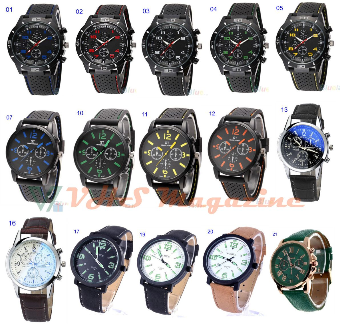 57633628446 Relógio Masculino Atacado Revenda Kit Com 10 Pçs Cód.054 - R  249