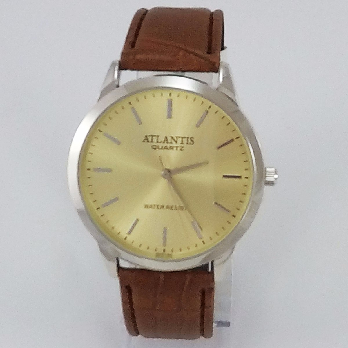 ffc5153b87f Relógio Masculino Dourado Barato Original Atlantis Couro - R  39