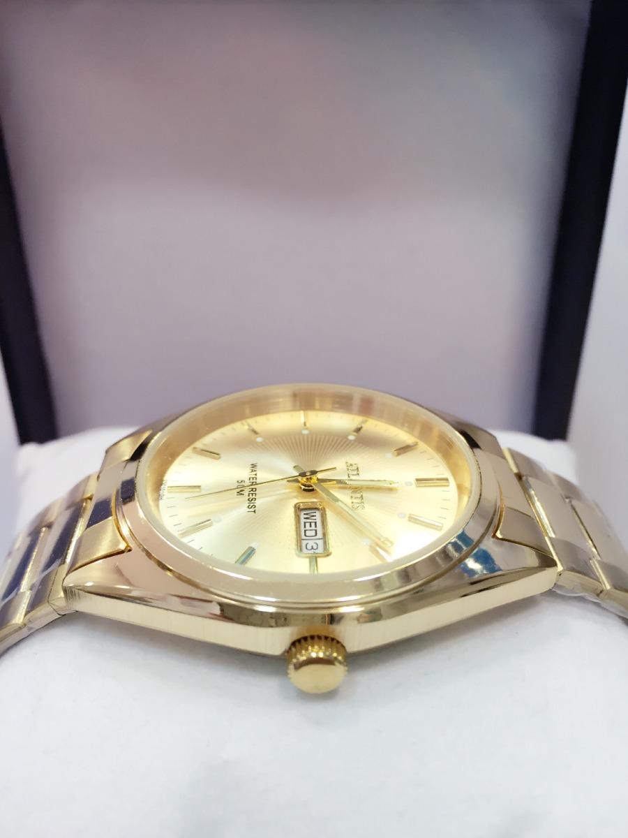 279edc2c44e Relógio Masculino Atlantis Original Dourado Dois Calendário - R  110 ...
