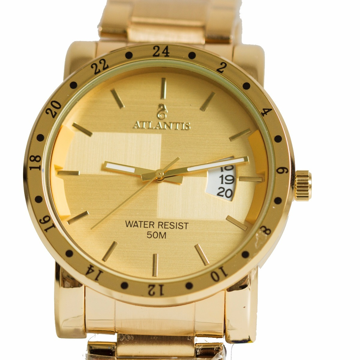 775e39c1f06 relógio masculino atlantis dourado luxo g3242 calendário. Carregando zoom.