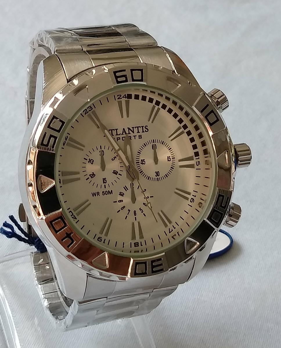 9560a027073 relógio masculino atlantis g-3243 grande ponteiro original. Carregando zoom.