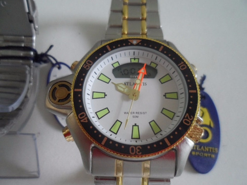 relógio masculino atlantis g3220 - aqualand metal