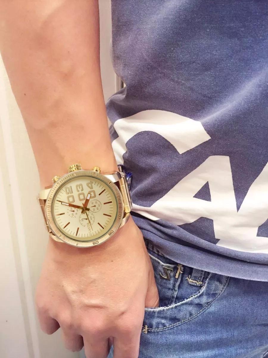 f34a4bcd517 relógio masculino atlantis original homem grande dourado aço. Carregando  zoom.
