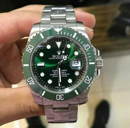 relógio masculino automático aço inoxidável + caixa verde