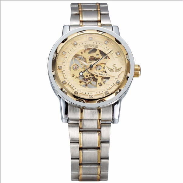 14fc9c5974d Relógio Masculino Automático Esqueleto Aço Cromado M  Sewor - R  149 ...