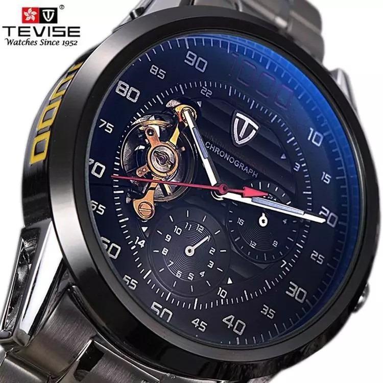 e54f55e4b92 Relógio Masculino Automático Importado Skeleton Promoção - R  249