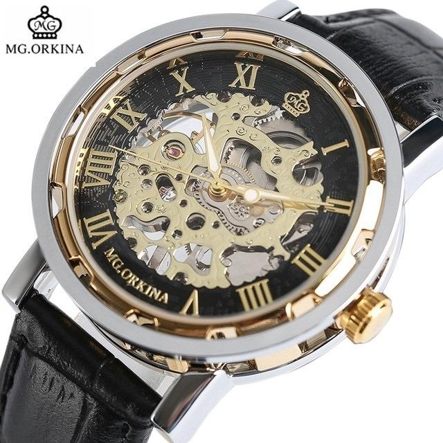 254619a92c7 Relógio Masculino Automático Mecânico Skeleto Mg Orkina Luxo - R  89 ...