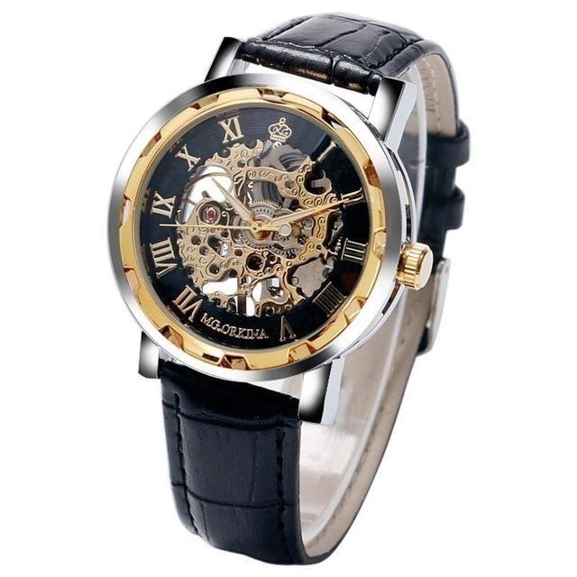 88d0fbba799 Relógio Masculino Automático Mecânico Skeleto Mg Orkina Luxo - R ...