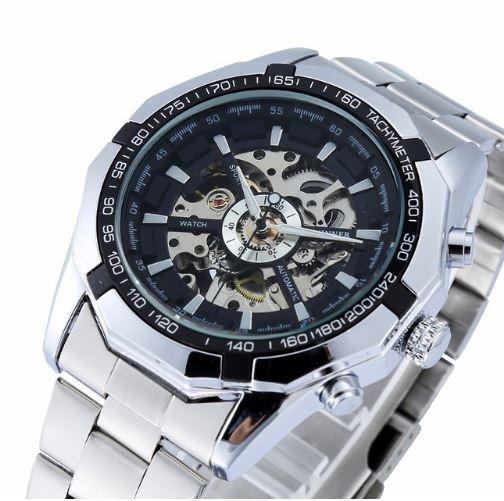 41842b200c1 Relógio Masculino Automático Modelo Esqueleto Marca Winner - R  149 ...