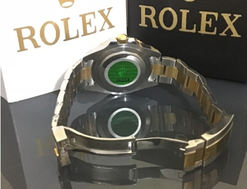relógio masculino automático safira inox resistente à água