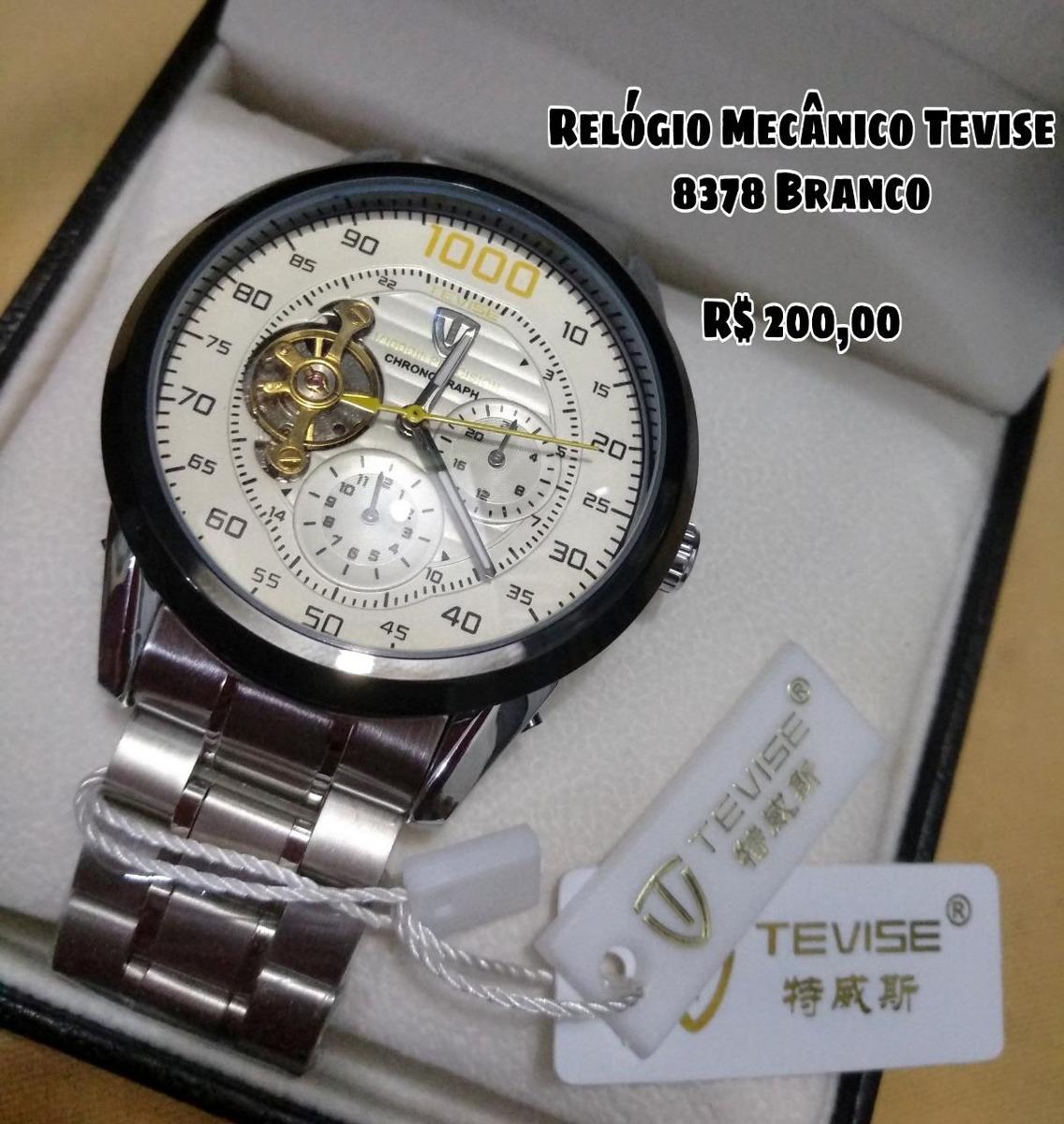 e7f643a92cf relógio masculino automático tevise todo funcional. Carregando zoom.