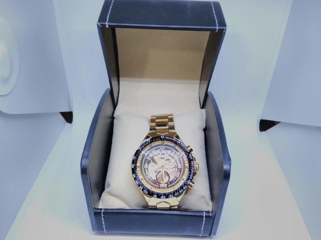 aef942fab87 relógio masculino automático winner original inox + brinde. Carregando zoom.