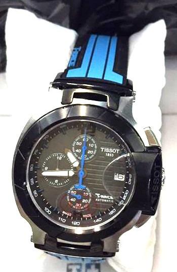 eddcfa689ae5a Relógio Masculino Azul Tissot Azul Preto Funcional Safira - R  699