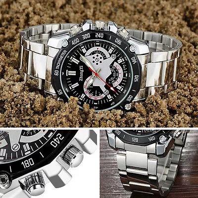 relógio masculino barato aço inoxidável luxo casual promoção