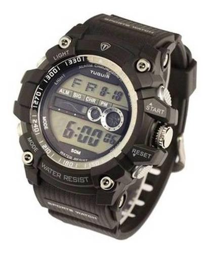 relógio masculino barato c/ nf tuguir digital tg6009 preto