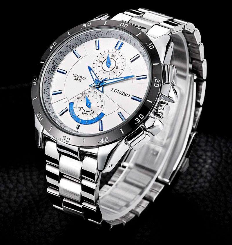 c11e4008f34 relogio masculino barato cor prata original esportivo luxo. Carregando zoom.