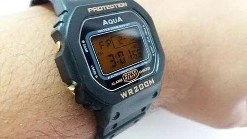 relógio masculino bolsonaro 2018 digital aqua prova d agua