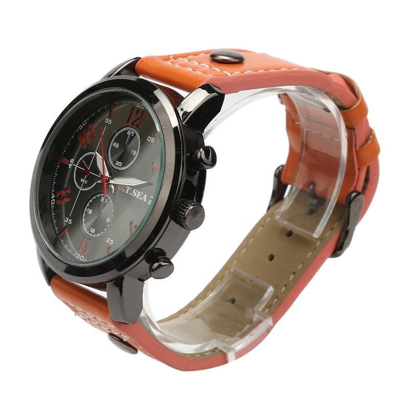 3a2654a95a2 relógio masculino bonito barato casual pulseira cor laranja. Carregando zoom .