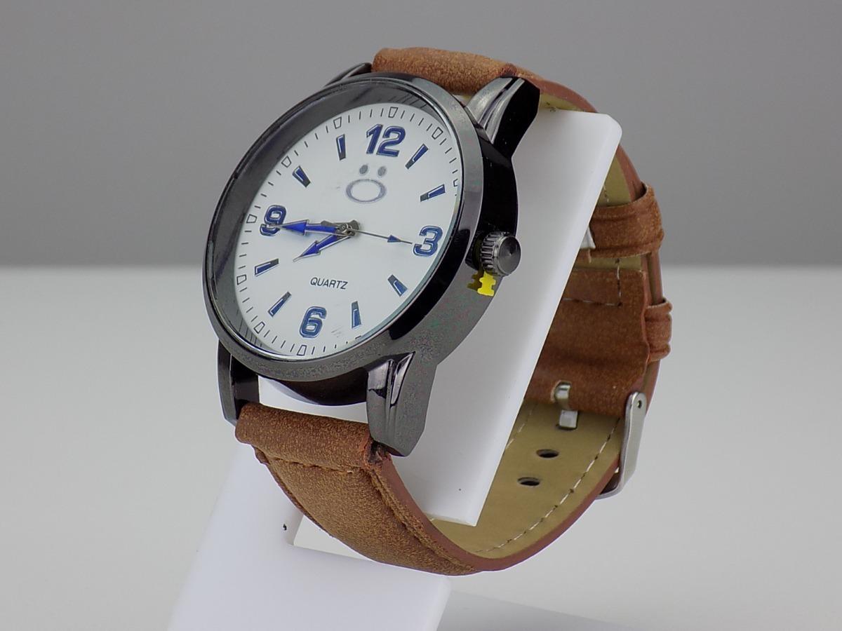 22e73ef2c16 relógio masculino bonito couro preto prata barato novo. Carregando zoom.