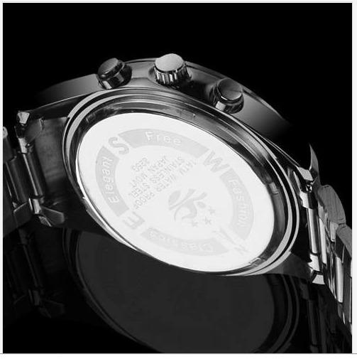 fe1f1cc2f5c34 Relogio Masculino Bosck De Luxo Pulseira Aço Aprova D agua - R  99 ...