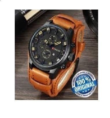 a5a49a861e5 Relógio Masculino Bracelete Curren Original Pulseira Couro - R  149 ...