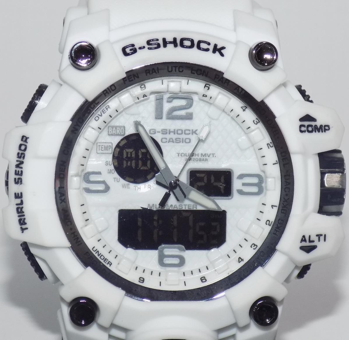 33092e945a7 relógio masculino branco g shock barato resistente a agua. Carregando zoom.