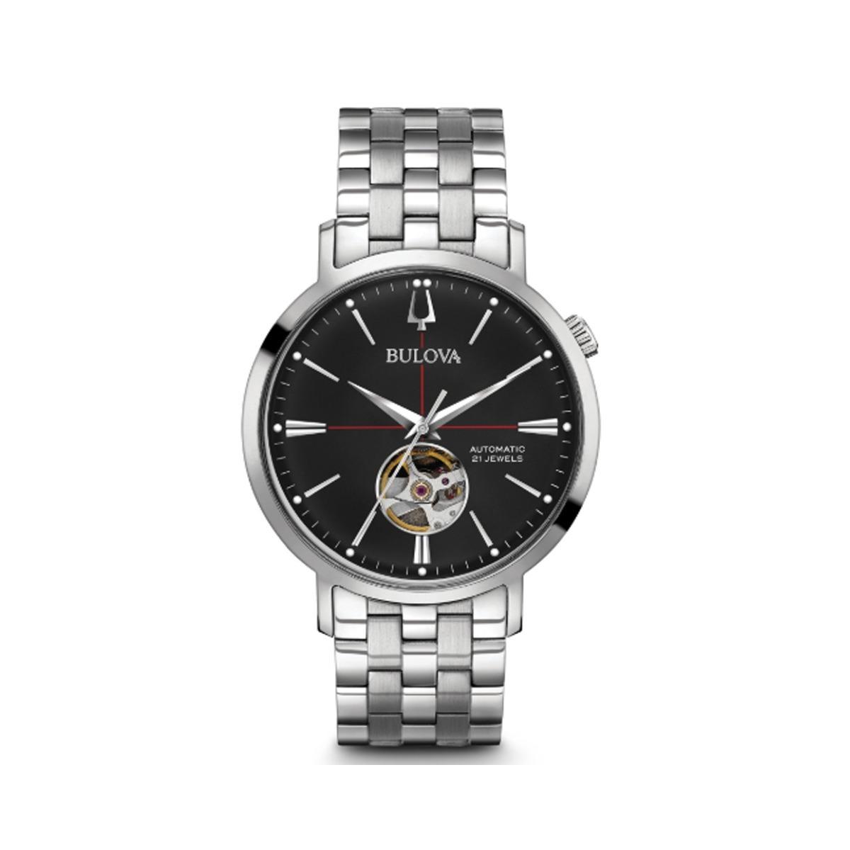 4705d9f79b0 Características. Marca Bulova  Linha Automatic  Modelo 96A199  Gênero  Masculino  Material da correia do relógio ...