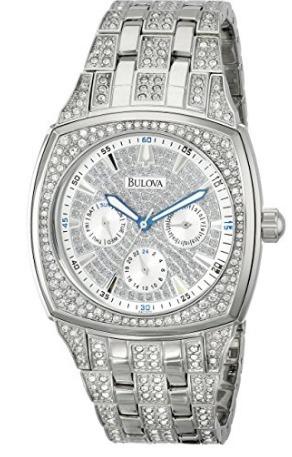 8b73e0e8654 Relógio Masculino Bulova Prata Cristal Swarovski Original - R  3.299 ...
