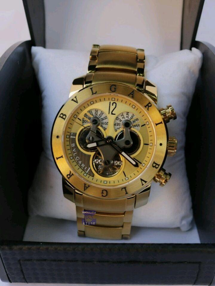 6072073c96d relógio masculino bv bullgari dourado automático - promoção. Carregando zoom .