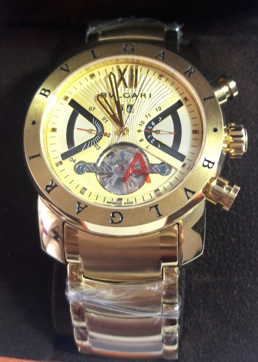 e0b7fea50a2 relógio masculino bv4000 automático dourado ouro bugari turb. Carregando  zoom.