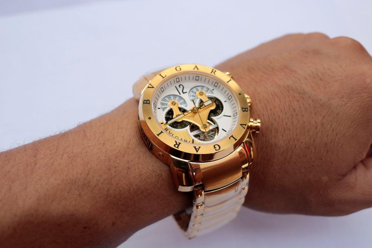 3e2c62c8476 relógio masculino bvlgari automático dourado - promoção. Carregando zoom.